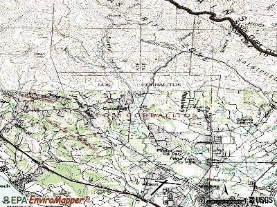 Coto de Caza topographic map