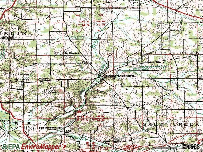 Fredericksburg topographic map