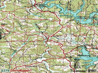 Freeport topographic map