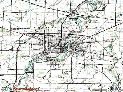 Fremont topographic map