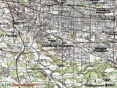 Garfield Heights topographic map