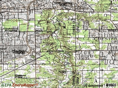 Gates Mills topographic map