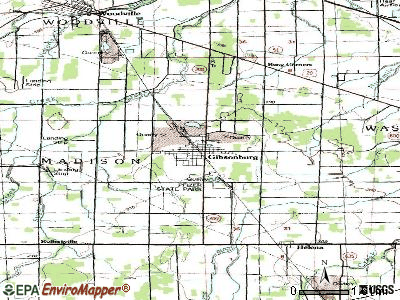 Gibsonburg topographic map