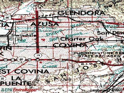 Covina topographic map