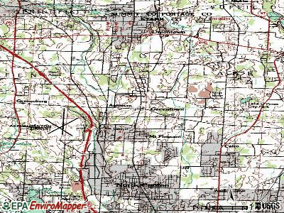 Greentown topographic map