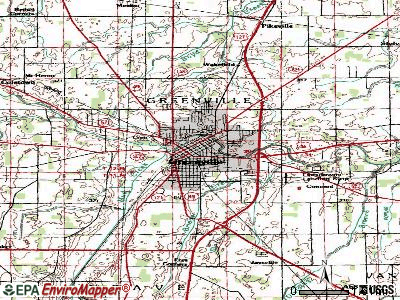 Greenville topographic map