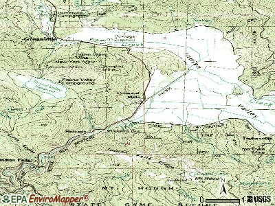 Crescent Mills topographic map