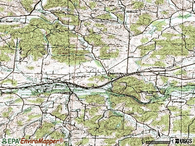 Hanging Rock topographic map