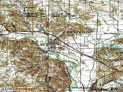 Harrison topographic map