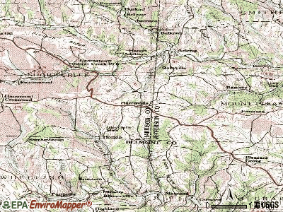 Harrisville topographic map