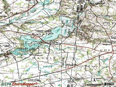Harveysburg topographic map