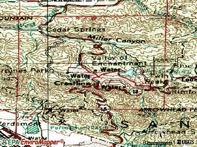 Crestline topographic map