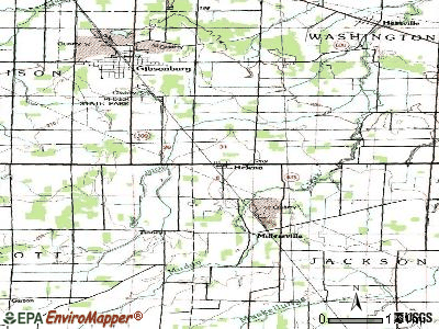 Hemlock topographic map