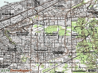 Highland Heights topographic map