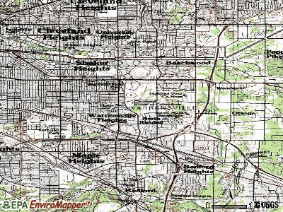 Highland Hills topographic map