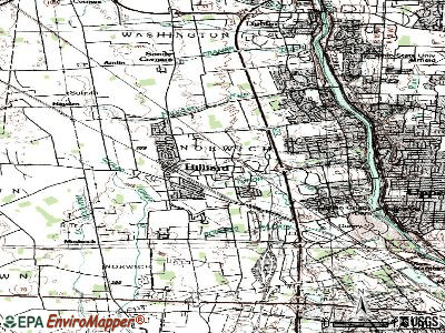 Hilliard topographic map
