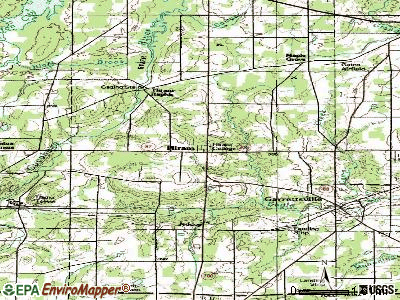 Hiram topographic map