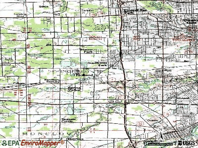 Holland topographic map