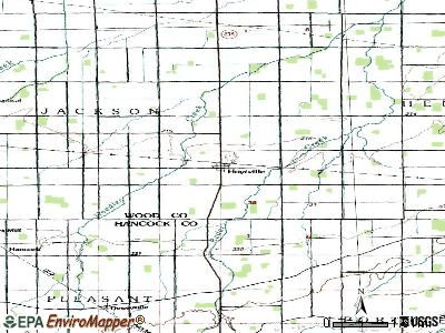 Hoytville topographic map
