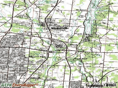 Huber Ridge topographic map