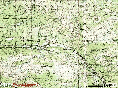 Cromberg topographic map