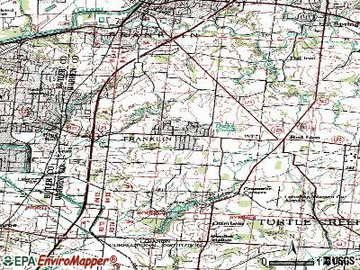 Hunter topographic map