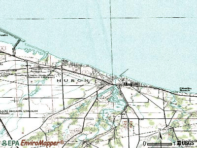 Huron topographic map