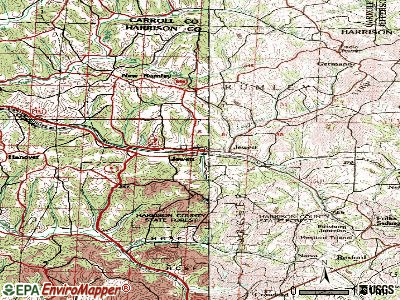 Jewett topographic map