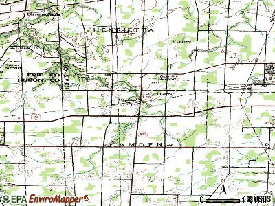 Kipton topographic map