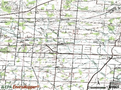 Kirkersville topographic map