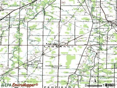 Lagrange topographic map