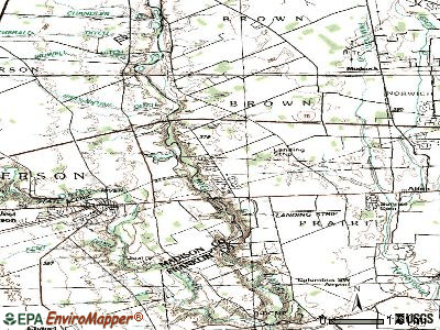 Lake Darby topographic map