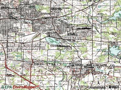 Lakemore topographic map