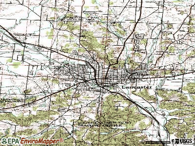 Lancaster topographic map