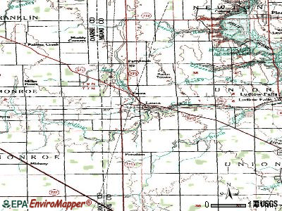 Laura topographic map