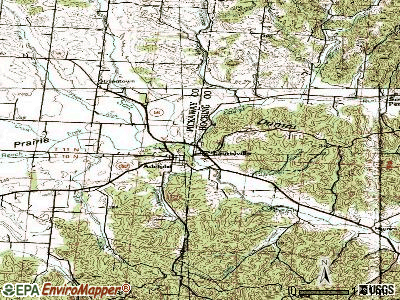 Laurelville topographic map