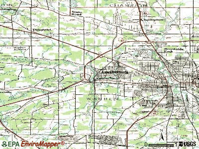 Leavittsburg topographic map