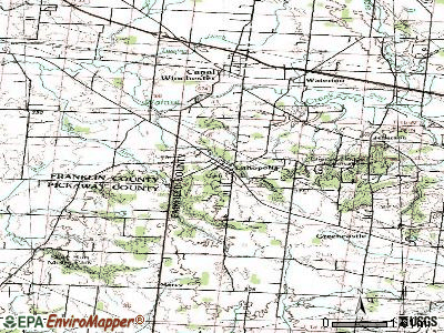 Lithopolis topographic map