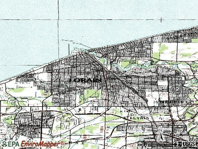 Lorain topographic map