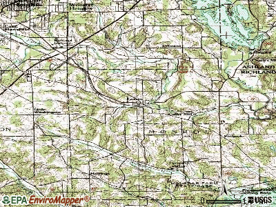Lucas topographic map