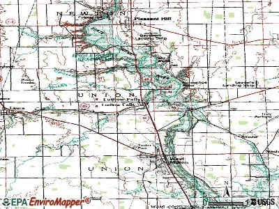 Ludlow Falls topographic map