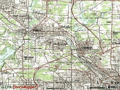 McDonald topographic map