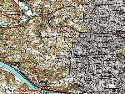 Mack North topographic map