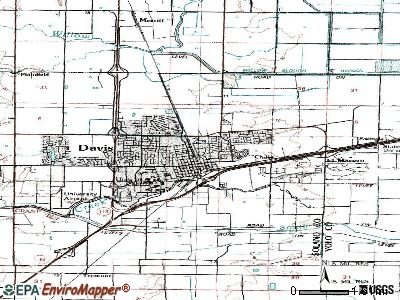 Davis topographic map