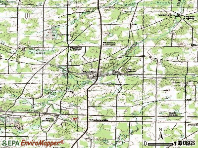 Mantua topographic map