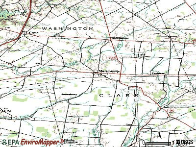 Martinsville topographic map
