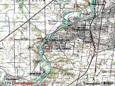 Miamisburg topographic map