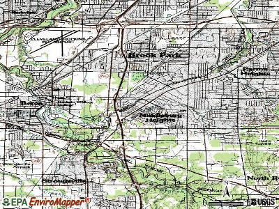 Middleburg Heights topographic map