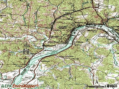 Middleport topographic map