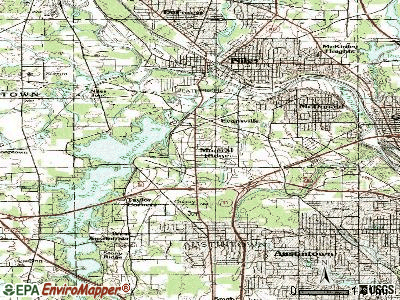 Mineral Ridge topographic map